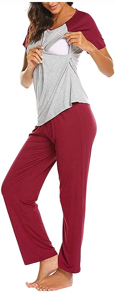 Camisetas Maternidad Tops + Pantalones Ajustables 2PCS ...