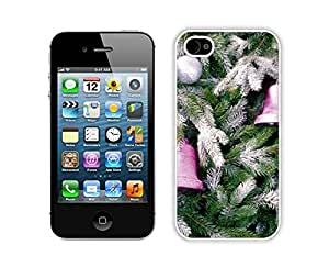 2014 New Style Christmas Tree Decoration Of Jingling Bell Iphone 4s,Apple Iphone 4s White TPU Cover Case