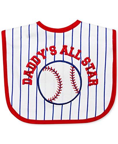 First Impressions Daddy?s All Star Red White Blue Baseball Bib Blue Infant Baseball Bib