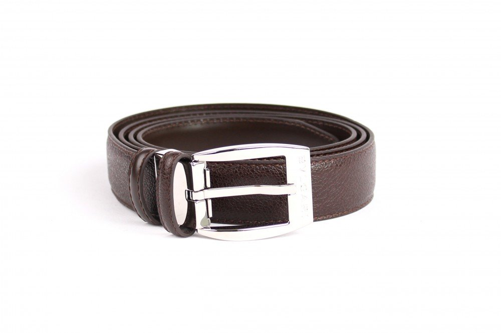 Men Belts, ref .: 23384, Colour: black, size: free size, material: cowhide, Size:one-size;Color:Dark Brown