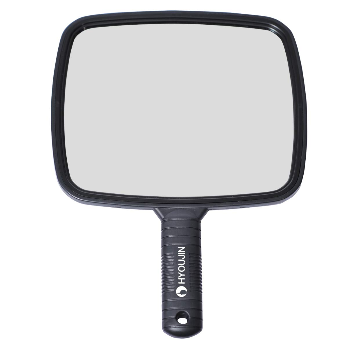 HYOUJIN Hairdressing Hand Mirror Professional Handheld Salon Barbers Hairdressers Paddle Mirror Tool with Handle MM001US-FBA