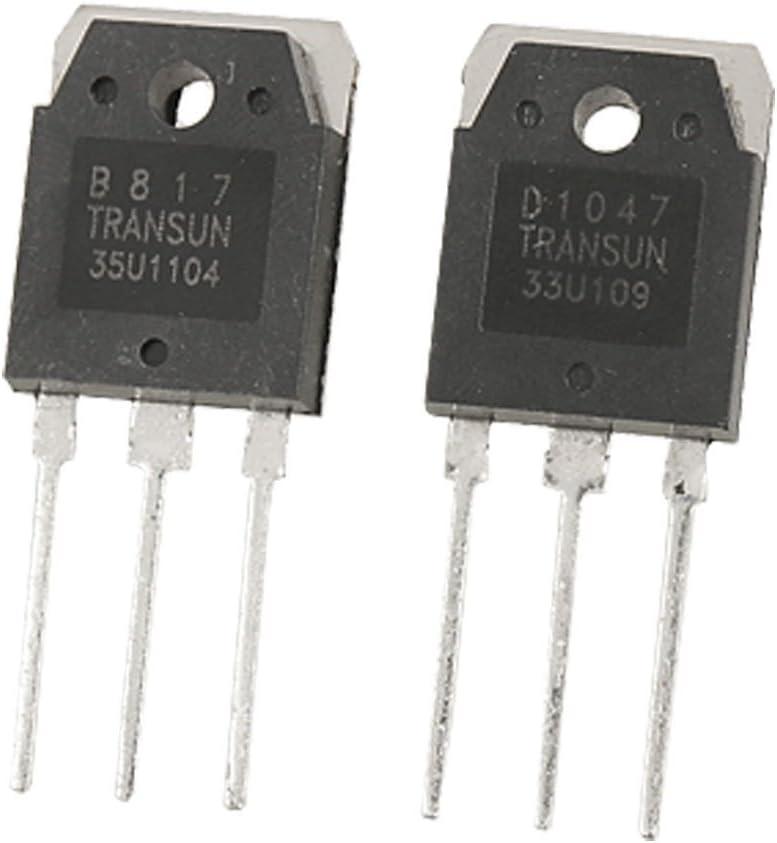 B817 200V 12A transistores de potencia de silicio 2 PCS D1047