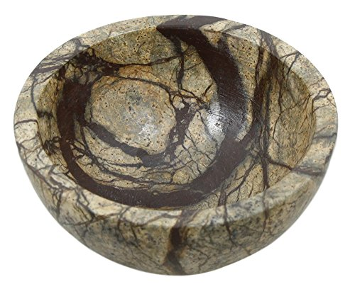 ShalinIndia Handmade Brown Forest Marble Serving Bowl,4 Inch,430 Grams