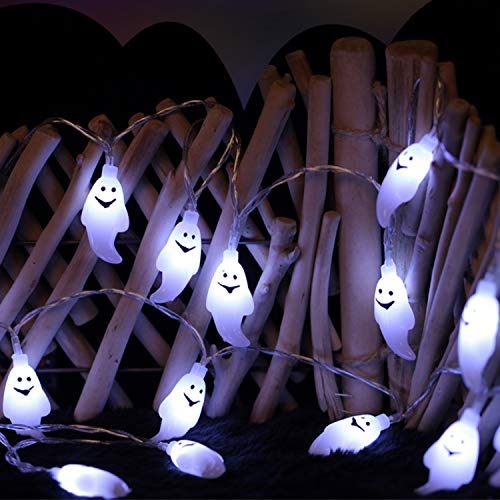 Mengar Halloween String Lights, 30 LED 11.48ft Wire Jack-O-Lantern Ghost Horrific Themed Lights for Halloween Decorations, Christmas, Indoor Outdoor, Cosplay Parties, Holiday, Home Decorative -