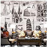 XLi-You 3D Wallpaper Custom Modern 3D Murals and Style Manual Building Tv Ktv Coffee Hall Hotel Background Wall Wallpaper Sticker Mural 350cmX270cm