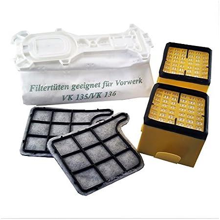 24 bolsas de aspiradora + 4 Filtros para aspiradoras Vorwerk Kobold 135 y 136: Amazon.es: Hogar