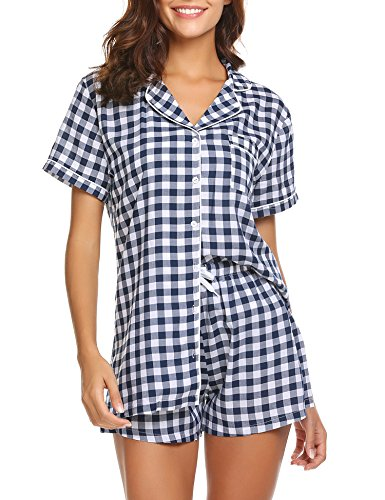 ec16488d1b Ekouaer Womens Sleepwear Nightgown Lightweight Viscose Tank Top Short  Sleeve T Shirt and Shorts Pajama