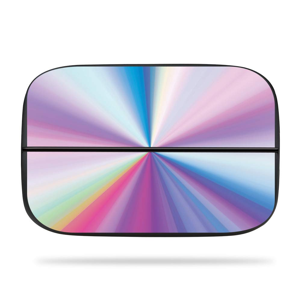 mightyskins skin for elgato game capture hd60s - rainbow zoom | protective,  durable, and unique vinyl decal wrap cover | easy to apply, remove,