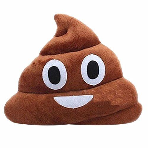OliaDesign Emoji Smiley Emoticon Cushion Pillow Stuffed Plush Toy Doll, Poop Face