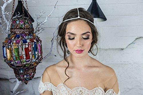 Bohemian Bridal Head Chain, Swarovski Headpiece, Designer headpiece, Beach Wedding hair accessories by Hair Floaters