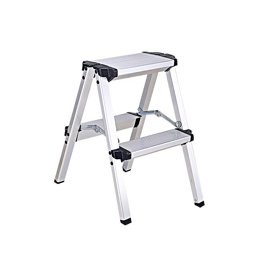 ZXL Aluminum Alloy Step Ladder Household Indoor Kitchen Living Room Folding Step Stool (Color : 2 steps)