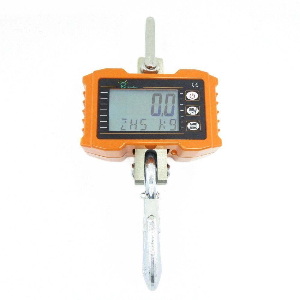 Hyindoor Digital Hanging Scale Industrial Heavy Duty Crane Scale Smart High Accuracy Electronic Crane Scale (500kg/1100lb)