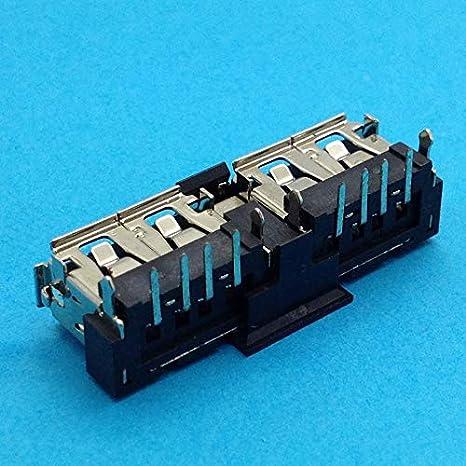 Cable Length: 2 pcs 30pcs Double 2.0 USB Jack New Notebook Laptop USB Jack for Asus K40AF K40IN K40AB K40AD K40C X8A X8AAF Connectors 1pcs