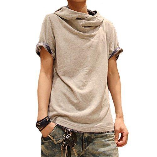 OrangeAnanas(オレンジアナナス)teppanアフガン風Tシャツ カットソー半袖パーカー07グレーXL