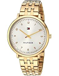 Tommy Hilfiger Womens SPORT Quartz and Stainless-Steel Casual Watch, Color:Gold-Toned (Model: 1781761)