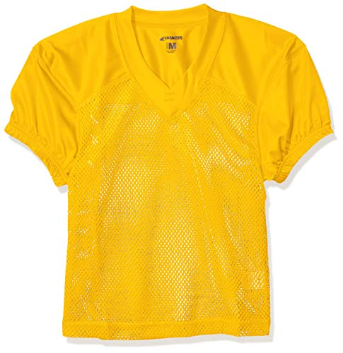 CHAMPRO Youth Stretch Polyester Practice Football Jersey, Gold, Medium