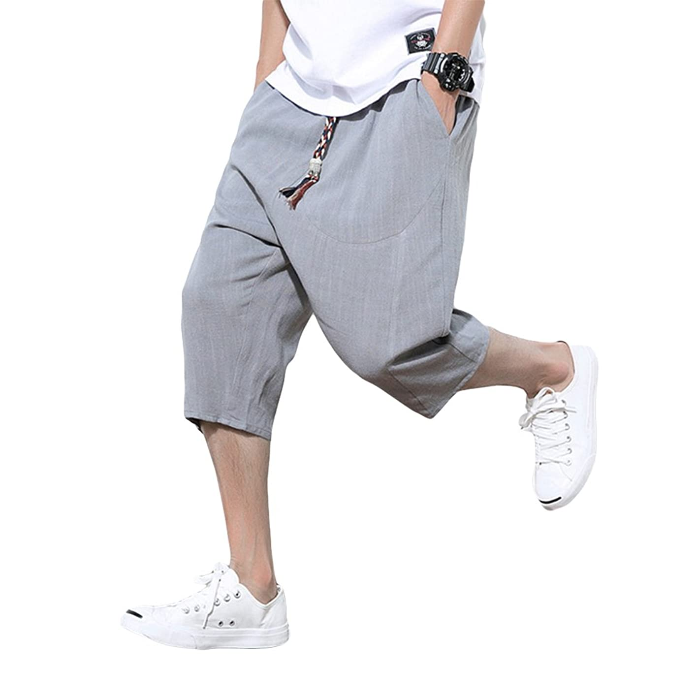 不正直ふけるにやにや[アルファーフープ] メンズ デニム ジーンズ ハーフ 7 分 丈 パンツ ジーパン ボトムス 半 ズボン 大きいサイズ D76