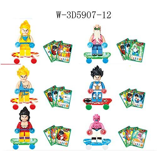New Lot of 6 sets Dragonball Z Minifigures building Toys Son Goku blocks Gift