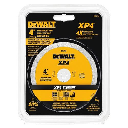DEWALT DW4735 4-Inch by .060-Inch Wet/Dry XP4 Porclean and Tile Blade