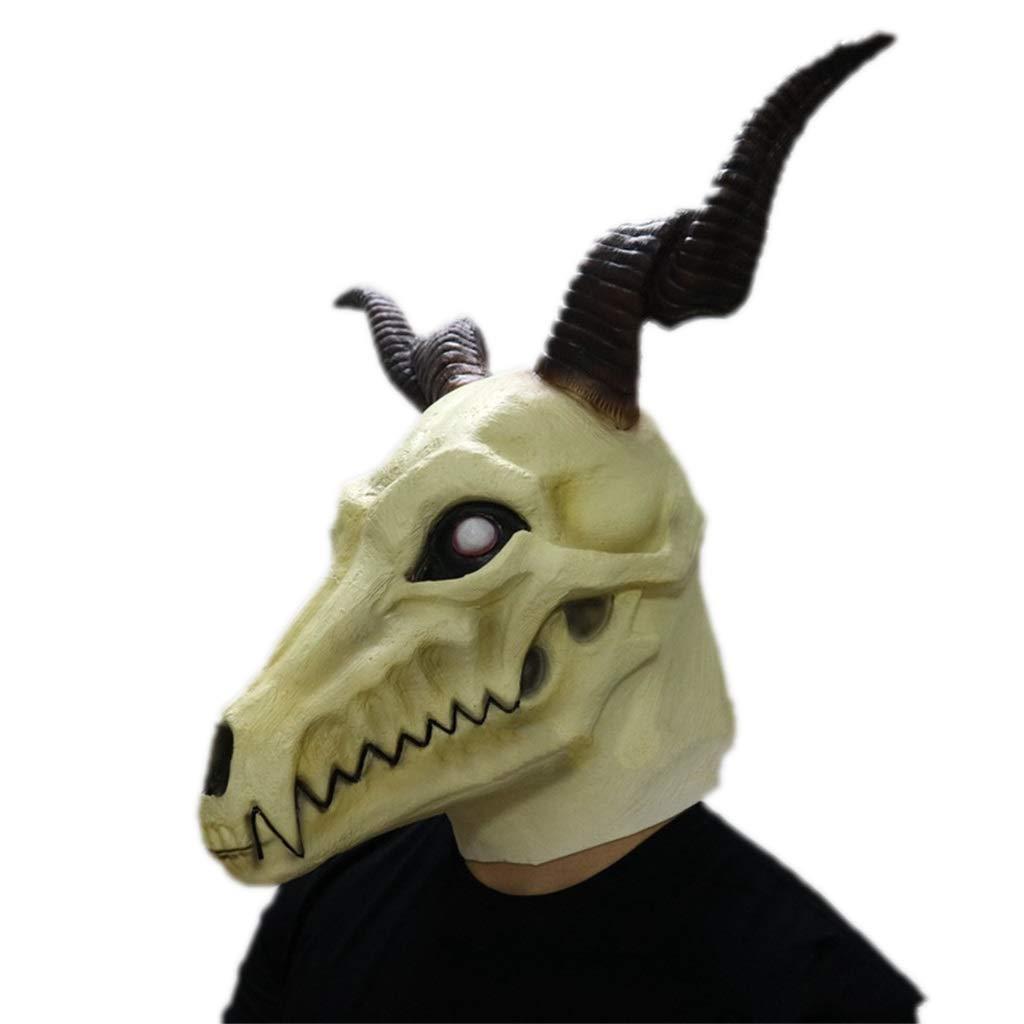Masken Latex Kopf Maske, Halloween Die alte Magus Braut Anime Cosplay Elias Ainsworth Horror Geist Kostüm Teufel Bloody Creepy Kostüm