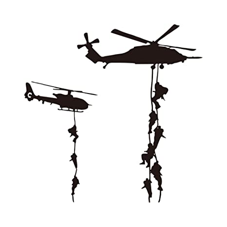 Wall Decals & Stickers ARMY SOLDIERS Wall art stickers viny kids bedroom boys plane soldier troops man