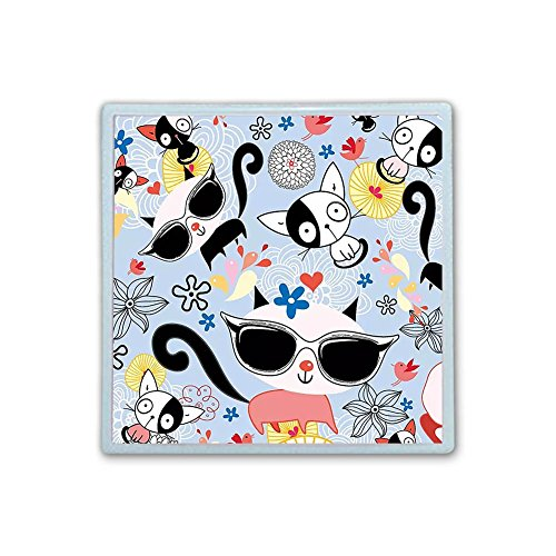 Contact Lens Box Holder Container Case Storage Eyecare Kit - Cute Cats by XIANN Care