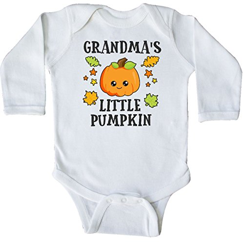 inktastic - Grandmas Little Pumpkin Long Sleeve Creeper 6 Months White 2bc8a