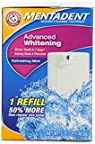 Mentadent Advanced Whitenening Anti-cavity Fluoride Toothpaste w/Baking Soda & Peroxide, Refreshing Mint, 1 Refill, 5.25 oz (148.8 g) (Pack of 2)