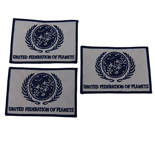 (Star Trek United Federation of Planets Iron On Patch Set of 3)