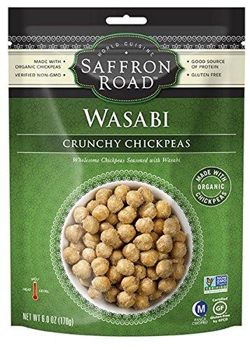 Saffron Road, Chickpea; Wasabi Crunch, Pack of 12, Size - 6 OZ, Quantity - 1 Case