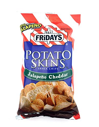 (T.G.I. Friday Potato Skins Snack Chips, Jalapeno Cheddar, 4.5 Ounces (Pack of 3))