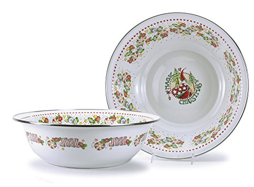 Mary Engelbreit Enamelware Dinnerware Serving Bowl 13 Inch (Mary Engelbreit Bowls)