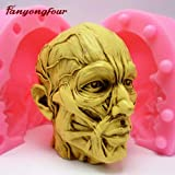 1 piece Skull Silicone Mould Fondant Mould Resin Gypsum Chocolate Candle Mould