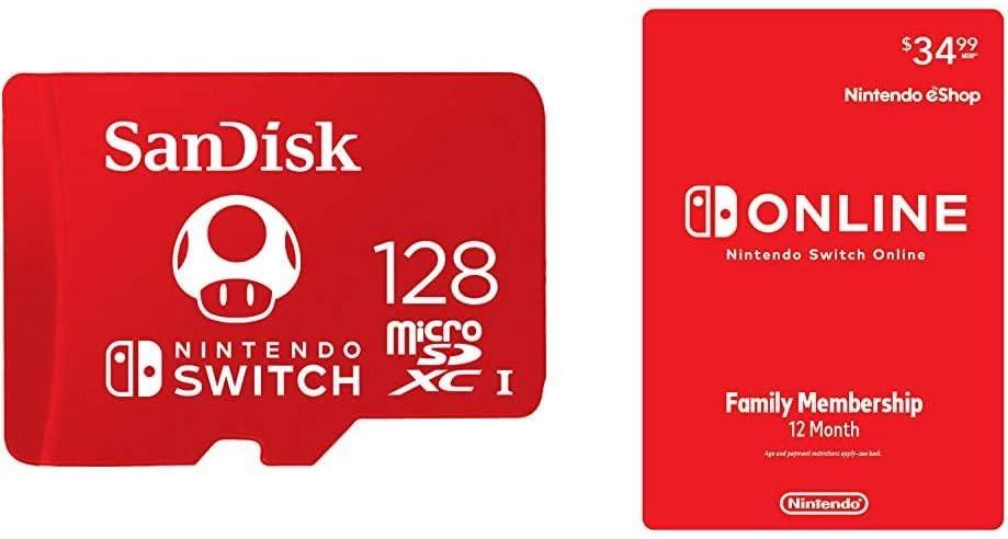 SanDisk 128GB 12-Mo. Nintendo Switch Online Family Membership (Digital) $34.99SanDisk 128GB 12-Mo. N Coupon