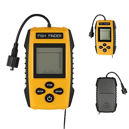 Portable Fish Finder Echo Sounder 100M Sonar LCD Echo Sounders Fishfinder Echo sounder for fishing