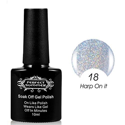 Perfect Summer Sparking Glitter Holographic Hologram UV Led
