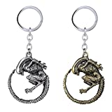 J&C Family Owned Alien Movie Theme (2 Pack) Keychain with Gift Box