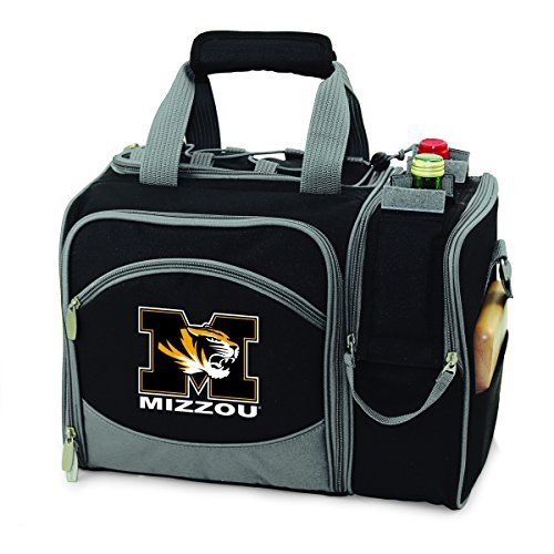NCAA Missouri Tigers Malibu Picnic Tote with Deluxe Picnic Service for Two by Picnic Time