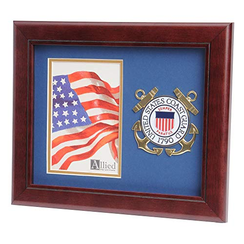 (Allied Frame US Coast Guard Medallion Portrait Picture Frame - 4 x 6 Picture)