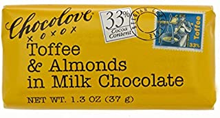 product image for Chocolove Mini, Toffee and Almonds in Milk Chocolate, 1.3 oz. ( 12 count)