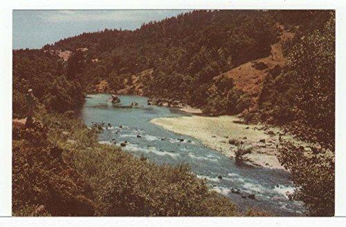 Eel River near Dyerville, California Vintage Original Postcard #3578 - 1960