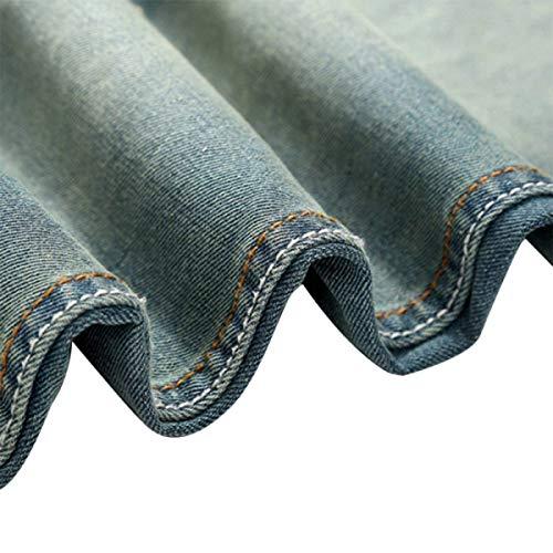 Tempo Da Libero Uomo Comodo Per Il Uomo Bassa Vita Battercake Blu Jeans Strappati A IxqRvwT8
