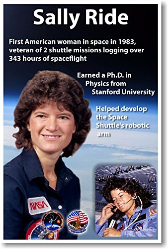Sally Ride - First American Woman in Space - NEW American NASA Astronaut Space Poster