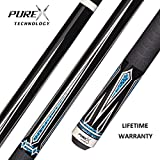PureX HXT62 Midnight Black with Graphic Turquoise/White Drop Diamonds Technology Pool Cue with Mz Multi-Zone Grip review