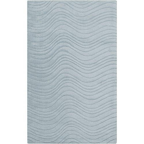 Surya Kinetic KNT-3107 Hand Loomed Wool Solids and Borders Accent Rug, 2-Feet by 3-Feet