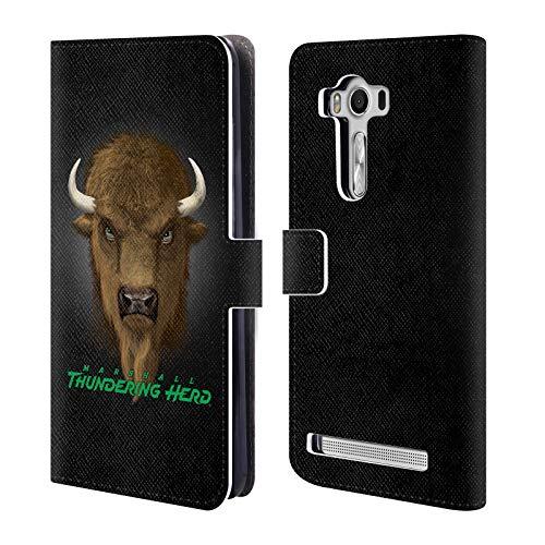 (Official Vincent HIE Marshall University Collegiate Varsity Leather Book Wallet Case Cover Compatible for Zenfone 2 Laser ZE550KL)