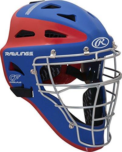 Rawlings Sporting Goods Adult Velo Series Catchers Helmet, Royal/Scarlet, 7 1/8-7 3/4