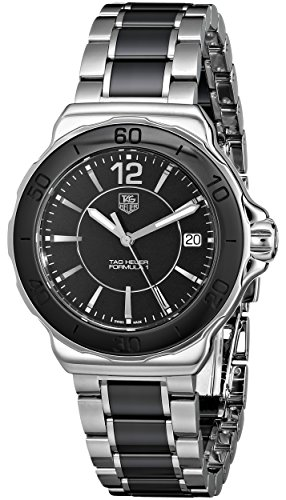 TAG Heuer Womens WAH1210BA0859 Formula One Black-Dial Stainless Steel Watch