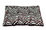 HappyCare Textiles HCT MAT-001 Printed Super Touch Micro Mink Dog and Pet Mat, Chocolate Zebra