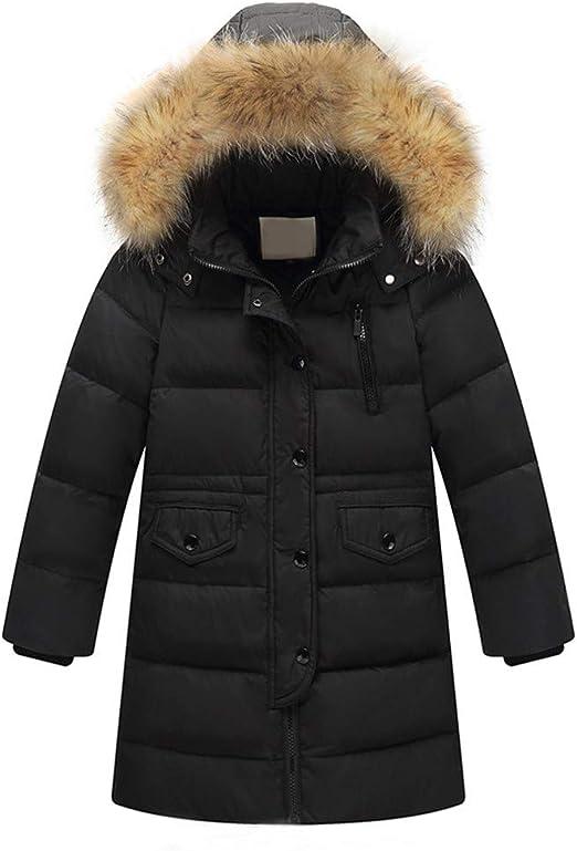 Winter Kids Down Cotton Padded Long Jacket Girl Warm Parka Outwear Thicken Coat